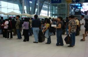 Wachtrij voor visum aanvraag